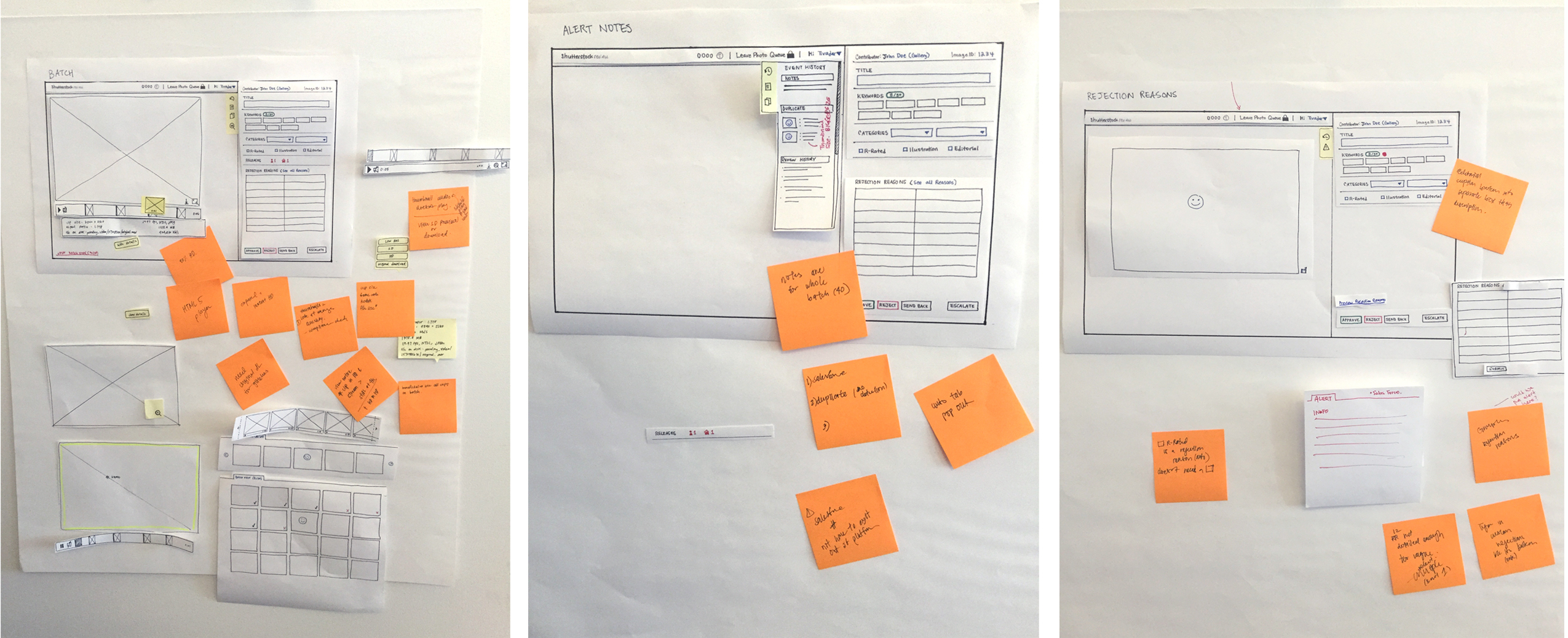 Using paper prototype to user test the early design